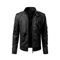 OK Mart Vintage Leather Jacket For Men Black