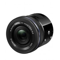 Olympus Air A01 Mirrorless Micro Lens-Style Digital Camera with 14-42mm EZ Lens Black