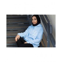 Oneway Customize Name Hoodie For Women Light Blue (0031)