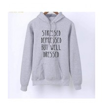 Oneway Well Dressed Hoodie For Unisex Grey (0045)