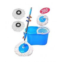 OpShopDeal Online 360 Degree Double Drive Spin Easy Mop Blue
