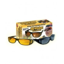 Waseem Electronics Pack Of 2 HD Night Vision & Day Glasses Black & Yellow (0020)