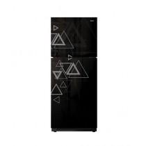 Orient Crystal 380i Inverter Freezer-on-Top Refrigerator 14 Cu Ft Triangle Black
