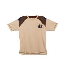 Oxford Cotton Polo T-Shirt For Boys Beige
