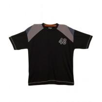 Oxford Cotton Polo T-Shirt For Boys Black
