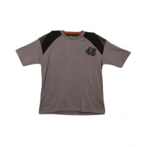 Oxford Cotton Polo T-Shirt For Boys Gray