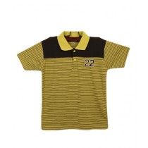 Oxford Cotton Polo T-Shirt For Boys Yellow