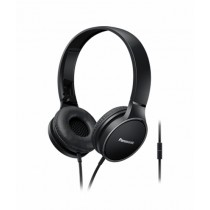 Panasonic Stereo On-Ear Headphones Black (RP-HF300MGC)