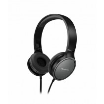 Panasonic Stereo On-Ear Headphones Black (RP-HF500)