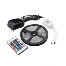 Rubian Store Waterproof LED Strip Lights 12v With Remoter Control & Adapter - Multicolor