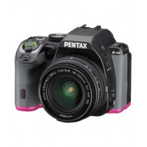 Pentax K-S2 DSLR Camera Black/Pink With 18-50mm Lens