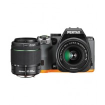 Pentax K-S2 DSLR Camera Orange/Black with 18-50mm & 50-200mm Lenses
