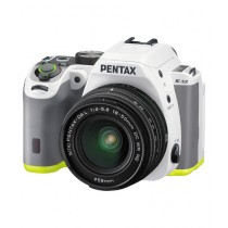 Pentax K-S2 DSLR Camera White/Lime With 18-50mm Lens