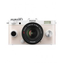 Pentax Q-S1 Mirrorless Digital Camera White With 5-15mm and 15-45mm Lenses
