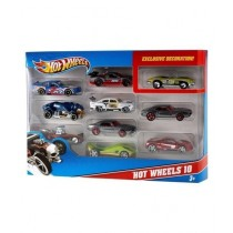 Planet X Hot Wheels Die Cast Cars Pack Of 10 Multicolor (PX-9505)