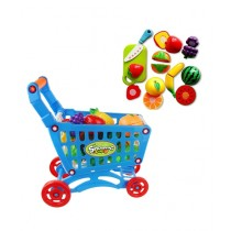 Planet X Kids Shopping Cart With Fruit Cutting Set (PX-9636)