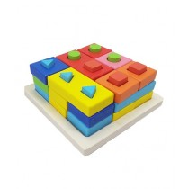 Planet X Shapes Matching Puzzle Wooden (PX-9204)