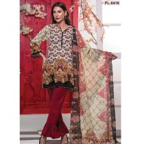 Popular Style Paisley Vibes Women's Lawn - Vol 3 (PL-0418)