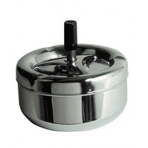 Premier Home Ashtray Large Chrome/Black (0305202)