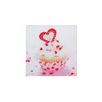 Premier Home Cupcake Glass Print Multicolour (2800605)