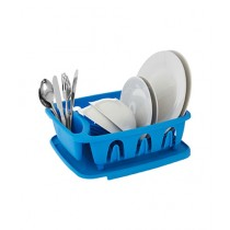 Premier Home Plastic Dish Drainer With Removable Tray Blue (0805146)