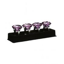 Premier Home Purple Diamante Napkin Rings Set of 4 (1403759)