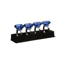 Premier Home Sapphire Diamante Napkin Rings Set of 4 (1403768)
