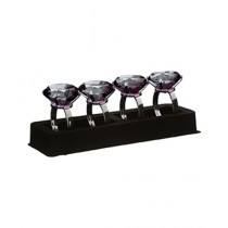 Premier Home Smoke Grey Diamante Napkin Rings Set of 4 (1403757)