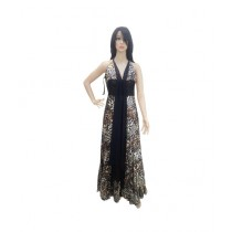 Princess Diaries Cheetah Print Sleeveless Maxi Dress Black (PD-020)