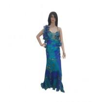 Princess Diaries New Fashion Sleeveless Maxi Dress Blue (PD-019)