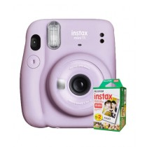 Fujifilm Instax Mini 11 Instant Camera Lilac Purple - With 20 Sheets