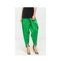 Queenstocks Cotton Tulip Shalwar For Women - Green (QA-0022)