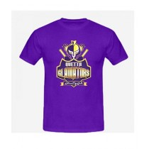 Sale Out PSL Quetta Gladiators Half Sleeves T-Shirt Purple