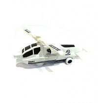 Quickshopping 3D Lights Swat Helicopter White (DYD168A-1)