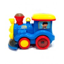 Quickshopping Fun Train Toy With Smoke Action For Kids Blue (ZR121)