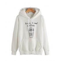 R&H Fashion Hoodie For Women - White (0045)