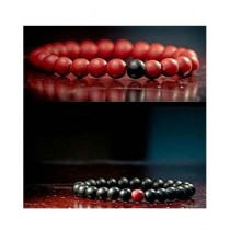 RA Traders Beads Bracelet For Couple (0013)