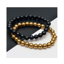 RA Traders Beads Bracelet For Couple (0015)