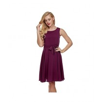Red Wood Fashion Chiffon Dress Shirt For Women - Dark Purple