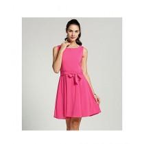 Red Wood Fashion Chiffon Dress Shirt For Women - Pink