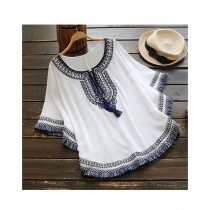 Rgshop Butterfly Embroidered Top For Women (0371)