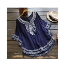 Rgshop Butterfly Embroidered Top For Women (0372)