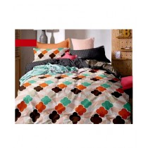 RGshop Dench King Size Bedsheet With 2 Pillow Covers (0446)