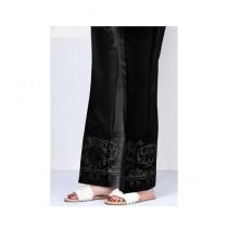RGshop Motive Embroidered Cig Pant For Women Black (0441)