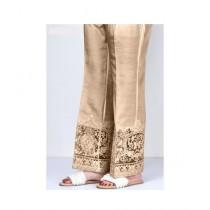 RGshop Motive Embroidered Cig Pant For Women Brown (0442)