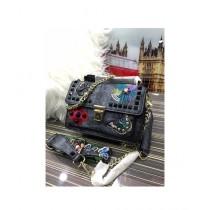 RGshop Traditional Design Embroidered Handbag For Women Grey