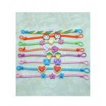 Rhizmall Clay Bracelets For Girls Multi-color - Pack Of 8