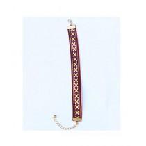 Rhizmall Cotton Bohemian Bracelet For Women Brown-Red (RMBBSBRM216)