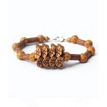 Rhizmall Flower Beads Ethnic Vintage Bracelet For Women