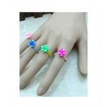 Rhizmall Funky Melissa Rings For Girls Multi-color - Pack Of 4